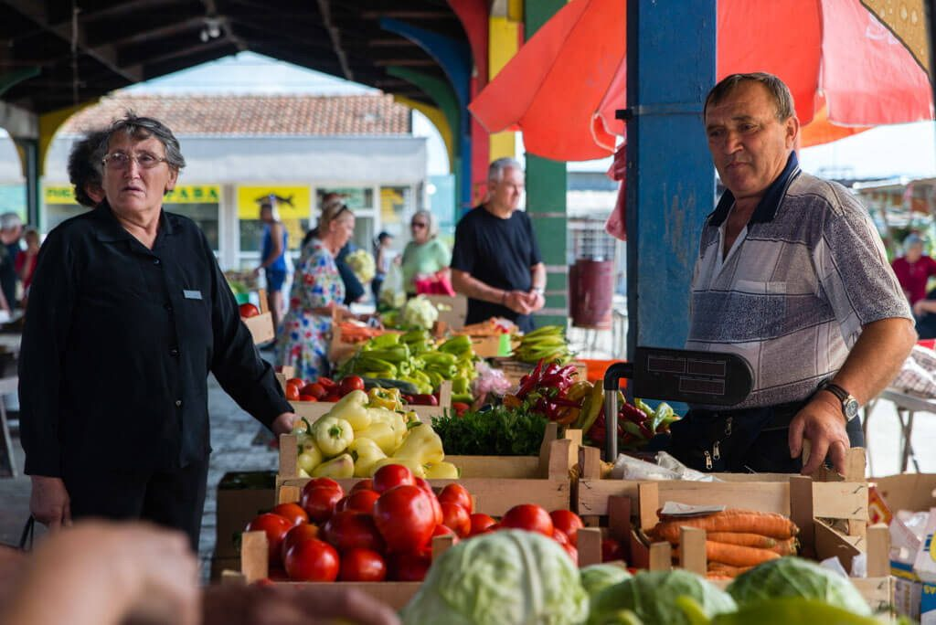 Vegetable and fruit Market in Trstenik